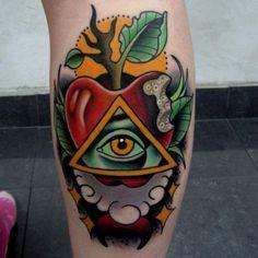Classic tattoo on the leg. #tattoo #tattoos #ink
