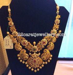Mango Motifs Gold Heavy Necklace