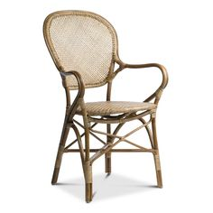 The Rossini stackable rattan bistro chair has been part of the Sika Design line for over 50 years. The indoor arm chair is handcrafted from natural rattan and built to last. Furniture, Aluminum Patio Furniture, Bistro Furniture, Fire Pit Furniture, Dining Arm Chair, Patio Decor, Outdoor Patio Decor, Outdoor Patio Furniture Sets, Bistro Chairs