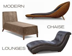 Contemporary Chaise Lounge Chairs A modern chaise lounge,