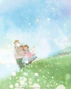 Heidi / © Kim Minji - illustrator Illustrations And Posters, Children's Book Illustration, Watercolor Illustration, Kim Min Ji, Anime School Girl, Creative Pictures, Cute Drawings, Illustrators, Character Design