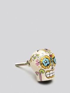 Sugar Skull Drawer Knob