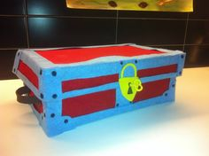 Treasure Chest (how to recycle an old shoes box)