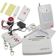 New Wireless GSM Home Security Burglar Alarm System Auto Dialing Dialer SMS Call 433MHz by pay4save Inc.. $89.92. Set alarm ON or OFF by remote controller; Can set Home Alarm and Out Alarm mode; Call in to set alarm ON,OFF,Monitor,Output,Intercom; Send SMS to set alarm ON,OFF,Monitor,Output; 5 group phone; Can program of alarm messages; 5 Zones for wired detector;. Brief Introductions:. GSM 850/900/1800/1900 bands,can be used in most parts of the world; Full duplex communicati...