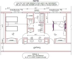 Bathroom Design Jack And Jill dimensions for jack and jill bathrooms | first floor plan second