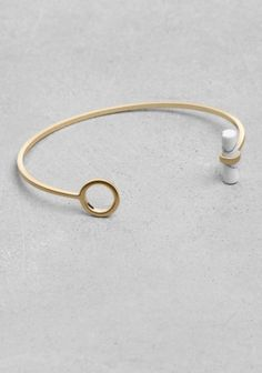 Stone Bar Cuff - & Other Stories - £12
