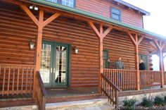 log cabins with side porches | ... porches work together to utilize passive solar energy in log homes