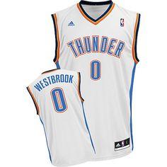 52526966b Adidas NBA Oklahoma City Thunder 0 Russell Westbrook New Revolution 30  Swingman Home White Jersey