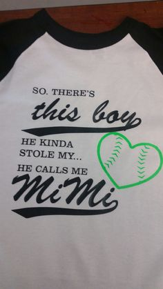 Baseball Raglan He stole me heart MiMi Shirt by BackroadGraphics