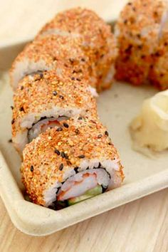 Genji Sushi Bars Furikake Spice Roll: Red Spice Shrimp California Roll at Whole Foods Market