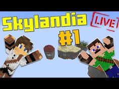 [ÉLŐ] Túlélés a semmi közepén!! Minecraft SkylanDIA UborCrafttal! #1 Nintendo 64, Minecraft, Cube, Logos, Facebook, Youtube, Logo, Youtubers, Youtube Movies