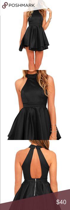 NWOT Lulu's Dress Rehearsal Black Skater Dress. Never before worn. Lulu's Dresses Mini