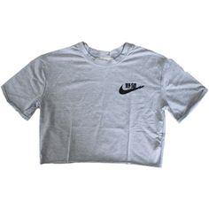Japanese Tick Crop Tee ($25) ❤ liked on Polyvore featuring tops, t-shirts, shirts, crop tops, t shirt, cut-out crop tops, shirt tops, crop shirt and crop top
