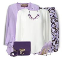Purple for Women's Day by daiscat on Polyvore featuring Oscar de la Renta, Space Style Concept, Wrangler, Gianvito Rossi, Versace, NOVICA and BillyTheTree
