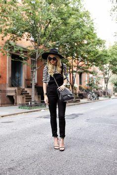 Overalls: Zara (similar). Top: Ann Taylor (similar). Shoes: Stuart Weitzman. Bag: Chanel c/o Lxr...
