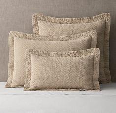 Textured Chevron Weave Cotton-Linen Sham