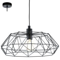 Lámpara de Techo Jaula Geometrica Metalica Negra
