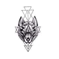 Leading Tattoo Magazine & Database, Featuring best tattoo Designs & Ideas from around the world. At TattooViral we connects the worlds best tattoo artists and fans to find the Best Tattoo Designs, Quotes, Inspirations and Ideas for women, men and couples. Geometric Wolf Tattoo, Geometric Tattoos Men, Geometric Tattoo Design, Tattoos Masculinas, Body Art Tattoos, Sleeve Tattoos, Tattoos For Guys, Tatoos, Fox Tattoo Design