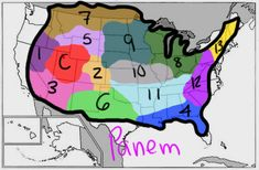 Teaching geography, regions with the Hunger Games. Lesson included