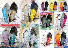 les petites têtes de l'art: Dessin d'accueil sur une oeuvre de Catherine Keun