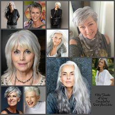 Grey Hair Colour Inspiration ♡ Rock your Locks