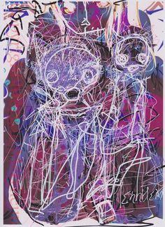 Lot de 2 Dessins Originaux Erotiques Morgan Merrheim Art singulier Contemporain