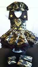 NATIONAL PAGEANT DRESS OOC. CAMO CASUAL WEAR  2-4t