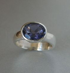 Hey, I found this really awesome Etsy listing at https://www.etsy.com/listing/73703754/ring-iolite-gemstone-set-in-sterling