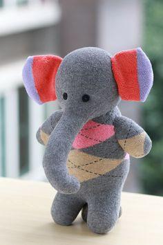 Personalized Stuffed Elephant Stuffed animal plush by Toyapartment