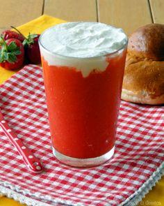 Granita alla fragola e panna sicilia bimby Vegan Granite, Pudding, Cooking, Tableware, Desserts, Food, Cheesecake, Google, Freezer