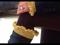"I Think your Going to Love Glama's Ruffly Boot Cuffs...especially if you made Glama's Ruffly Wrist Warmers. Now you can have a Matching set. My ""Made With Lo..."