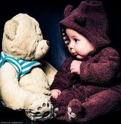 Baby und Teddybär #baby #teddy #cute ♥ stylefruits Inspiration ♥