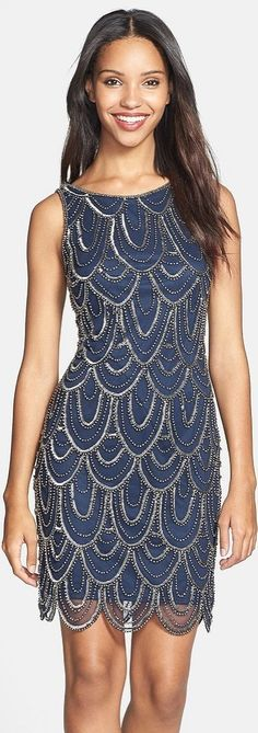Party dresses under $150: Pisarro Nights Embellished Mesh Cocktail Dress