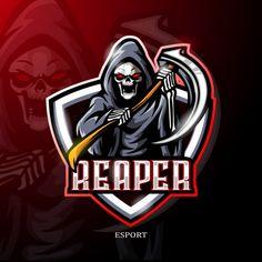 Robot Logo, Team Logo Design, Game Design, Logan, Avatar, Esports Logo, Skull Logo, Game Logo, Vector Photo