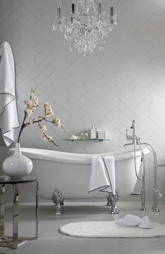 beautiful bathroom in all white <3 it!