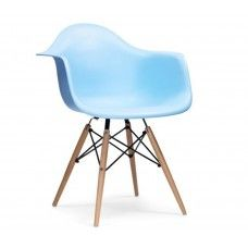 Charles & Ray Eames : Charles & Ray Eames Inspired DAW Chair - Blue