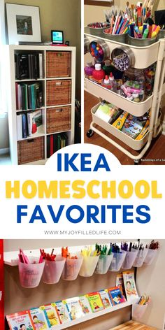 IKEA is THE place to go to outfit your homeschool room.  From furniture, to storage and organizational items, to school supplies, IKEA has a huge selection of products that are beneficial to homeschoolers.  #homeschooling #homeschoolroom #homeschoollife #IKEA School Room Organization, School Supply Storage, Kids Homework Station, Kids Homework Space, Ikea Must Haves, Preschool Rooms, Preschool Math, Homeschool Supplies, Resource Room