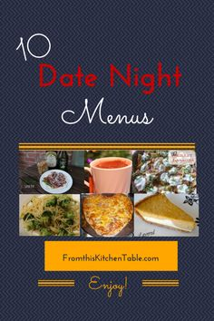 Meal Ideas for a Date Night at Home - From This Kitchen Table