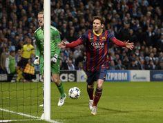 Gol de Messi. Man City-Barcelona 0-2