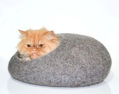 Gaaf !  Etsy https://www.etsy.com/nl/listing/118921346/pet-bed-cat-bed-cat-house-cats-cave-pets