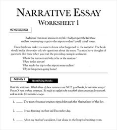 Narrative essay example college
