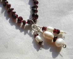 Love Garnet!  Love it even better with the pearls!