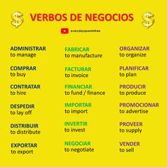 Learn more Spanish verbs @everydayspanishfree on  YouTube, just click on the image to watch the videos. Kindly follow this board, too :)