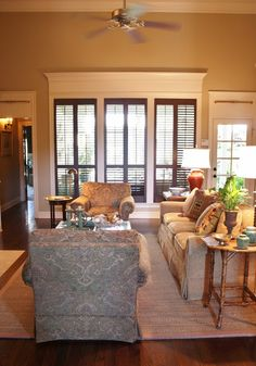 for the love of a house love the dark plantation shutters