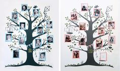 ~ aww i like these matching boy and girl family trees ~