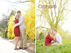 Rebekah Westover orchard engagement session via @UtahBride magazine