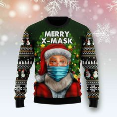Best mens ugly christmas sweater, New Santa Merry Xmas Ugly Christmas Sweater Xmas Santa Lover Gift Shirt size s-5xl. Mens Ugly Christmas Sweater, Merry Xmas, Christmas Humor, Gift For Lover, Slacks, Being Ugly, Wool Blend, Santa, Pullover