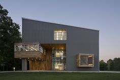 Image 1 of 14 from gallery of Abercrombie & Fitch Building U / MJ Sagan Architecture. Photograph by Michael Moran Architecture Websites, Architecture Photo, Abercrombie Fitch, Exterior Stairs, Interior And Exterior, Paginas Webs, Architect Magazine, Cedar Siding, House Of Beauty