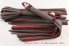 Bdsm leather Flogger set BDSM toy 50 shades of Grey by WhipsbyWolf