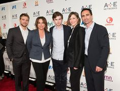 The cast of Bates Motel in the event of A & E Networks Upfronts !